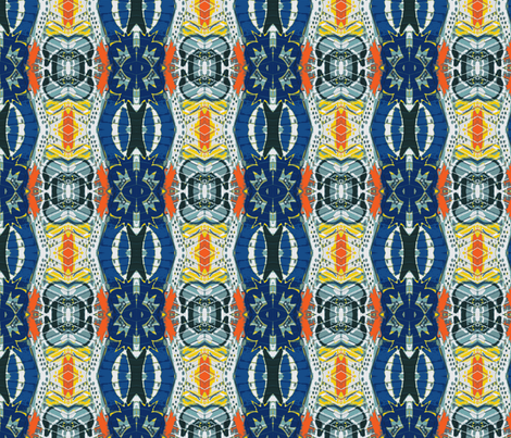 Royal Flush Medallions  fabric by susaninparis on Spoonflower - custom fabric