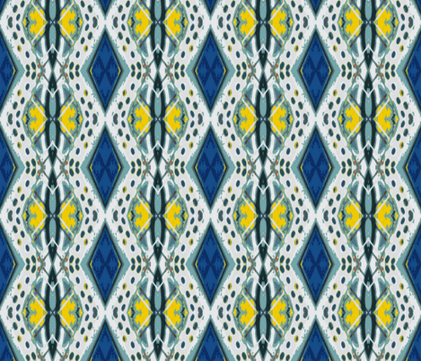 Royal Flush Vertical Challenge 1 fabric by susaninparis on Spoonflower - custom fabric