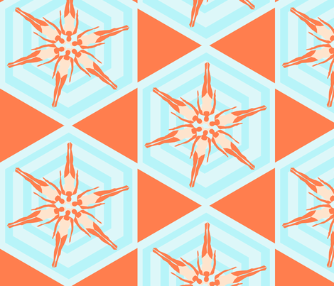 synchronized swimmers fabric by christy_kay on Spoonflower - custom fabric