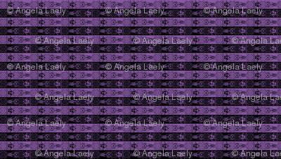 Nightmare Stripes - Black/Purple