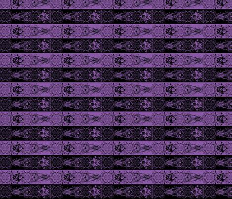 Nightmare Stripes - Black/Purple fabric by atelierpinky on Spoonflower - custom fabric