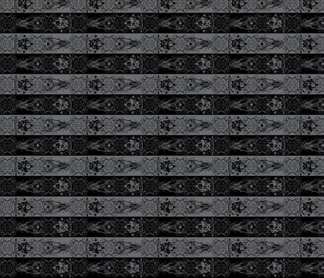 Nightmare Stripes - Black/Grey fabric by atelierpinky on Spoonflower - custom fabric