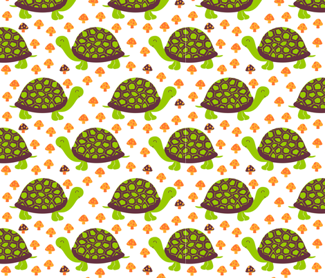 summer turtles fabric by bubbledog on Spoonflower - custom fabric