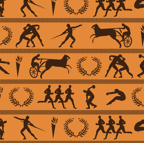 Ancient Greek Olympics fabric by robyriker on Spoonflower - custom fabric