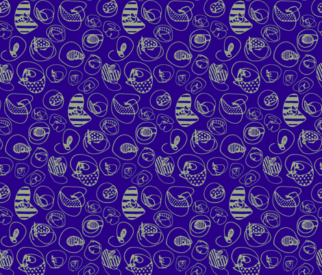 Sage Pattern Dots on Purple Blue fabric by katebutler on Spoonflower - custom fabric