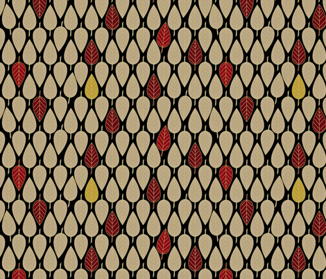 Leaves_So_Fall fabric by glimmericks on Spoonflower - custom fabric