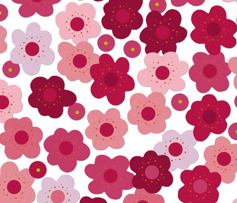 cherry blossom pop fabric by scrummy on Spoonflower - custom fabric