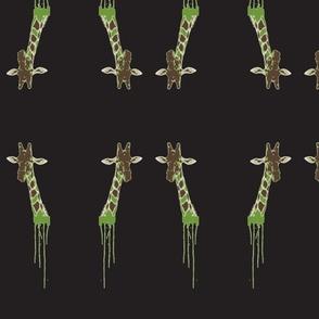 Drippy Giraffe Green/Black