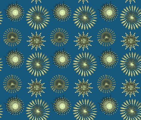 Christmas star fabric by isabella_asratyan on Spoonflower - custom fabric