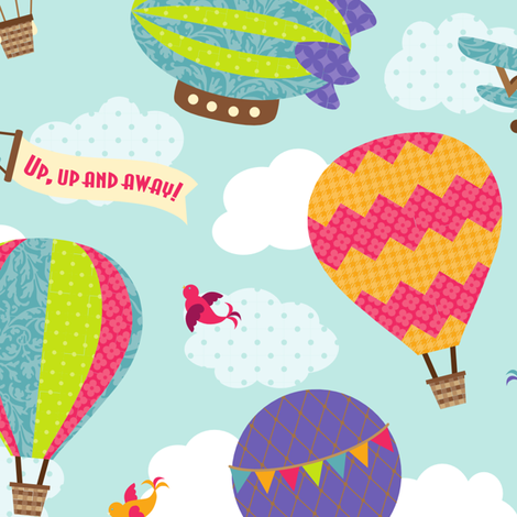 Up, Up and Away fabric by wrapartist on Spoonflower - custom fabric