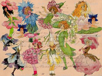 Victorian Garden Fairies
