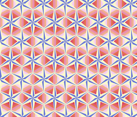starquilt_-_pastel_blue_pink_orange_cream fabric by glimmericks on Spoonflower - custom fabric