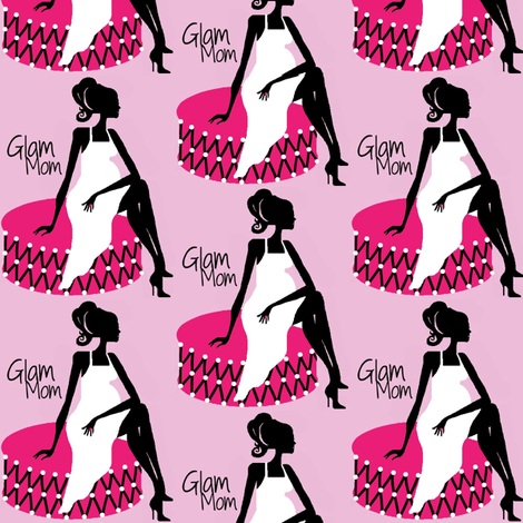 Glam Mom pink fabric by paragonstudios on Spoonflower - custom fabric