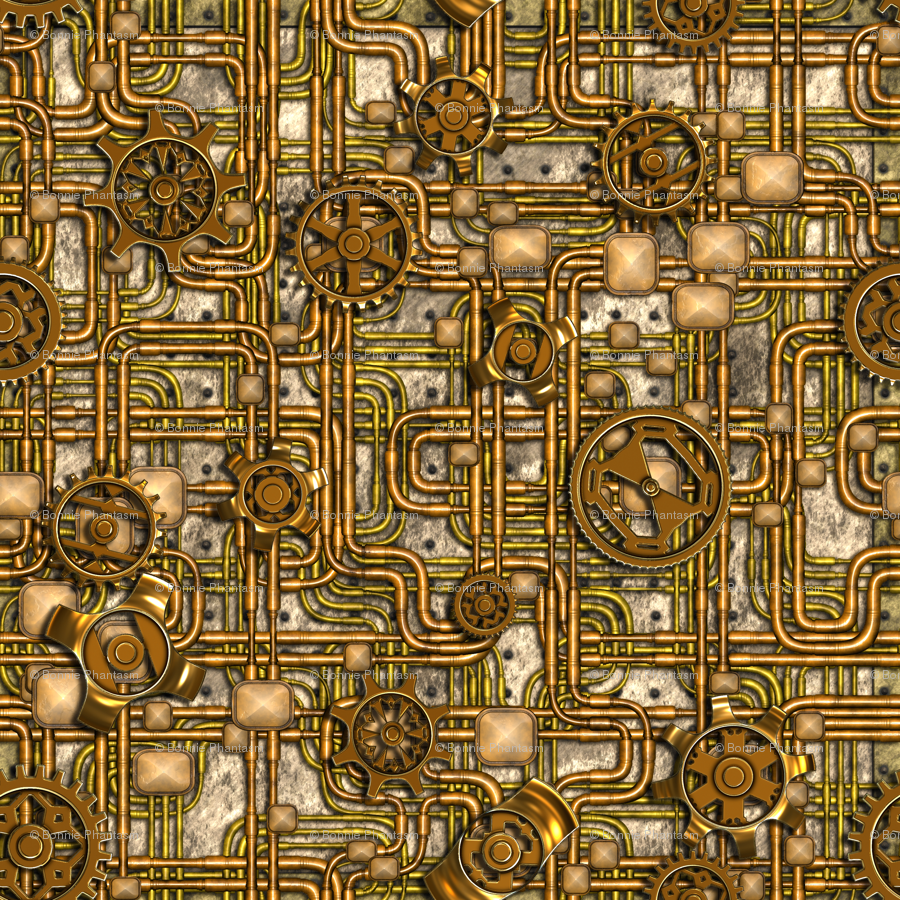 Great Wallpaper Halloween Steampunk - rrrrSteampunkPanel-Gears-Pipes-Brass1-24InchW_highres  Photograph_419392.png