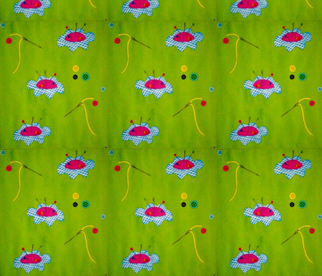 Pincushions by kyselinka fabric by kyselinka on Spoonflower - custom fabric
