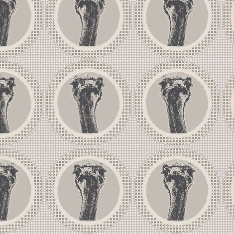Ostrich light brown fabric by susiprint on Spoonflower - custom fabric