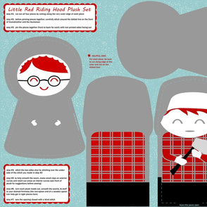 DIY little red riding hood plush pattern set #2
