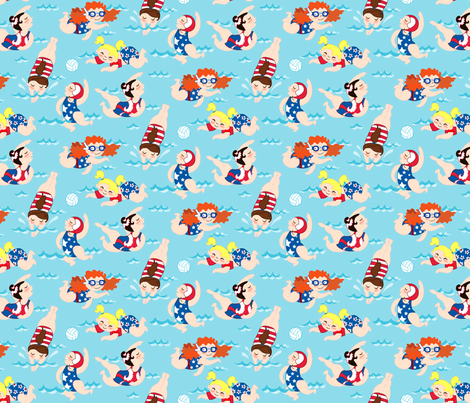 AquaticsFutureChampions fabric by caitlinrose on Spoonflower - custom fabric