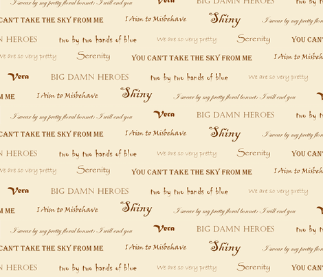 Firefly quotes fabric by darwinwhispers on Spoonflower - custom fabric
