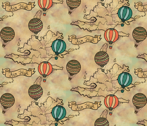balloons_map_pattern fabric by lusykoror on Spoonflower - custom fabric