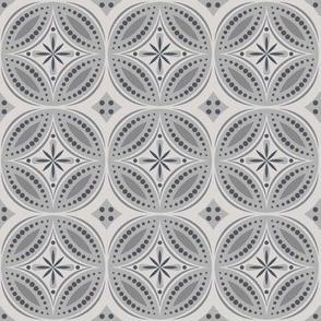 Moroccan Tiles (Gray)