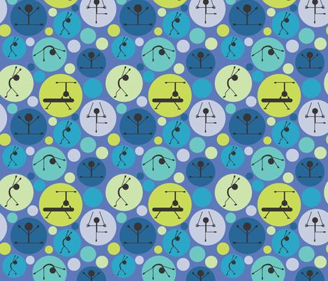 Gymnastics Love fabric by bojudesigns on Spoonflower - custom fabric