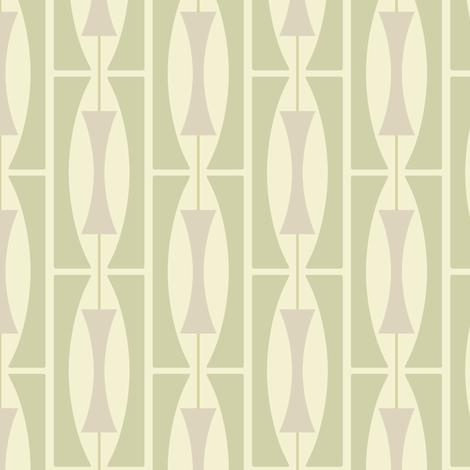 Mid-Century Grete in Earth Green fabric by bradbury_&_bradbury on Spoonflower - custom fabric
