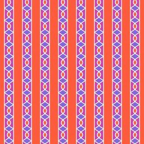 Surprise Stripe____-Orange-Violet-Magenta-White____Vertical