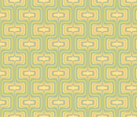 Retro Mellotron in Ginchy Green fabric by bradbury_&_bradbury on Spoonflower - custom fabric