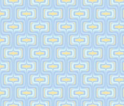 Retro Mellotron in Moody Blue fabric by bradbury_&_bradbury on Spoonflower - custom fabric