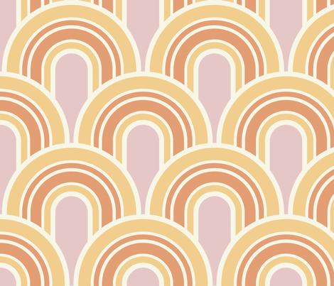 Retro Arches in Peppermint Sunshine fabric by bradbury_&_bradbury on Spoonflower - custom fabric