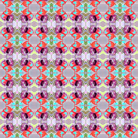 Mother's Day Tulips fabric by kimruss@thatcatart on Spoonflower - custom fabric
