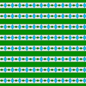 Surprise Stripe____-Green-White-Turquoise