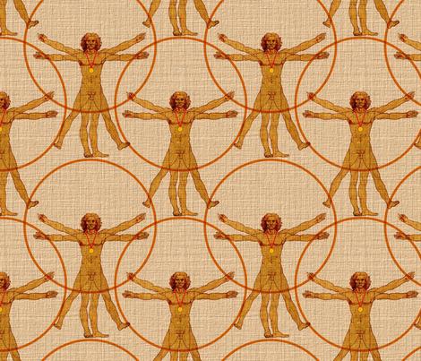Vitruvian Man as Medalist fabric by vo_aka_virginiao on Spoonflower - custom fabric