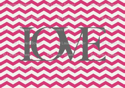 Love Chevron Pink