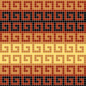 greek mosaic stripe : terracotta