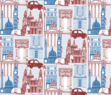 London Landmarks 2012 fabric by beni_w on Spoonflower - custom fabric