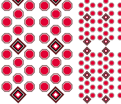 Red and Brown Octagon 3 fabric by r2mdesigns on Spoonflower - custom fabric