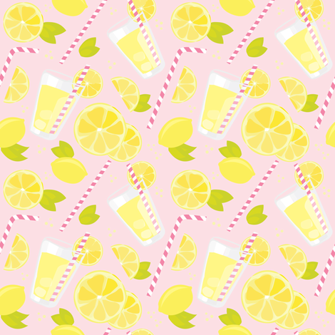 Pink Lemonade fabric by renata_f on Spoonflower - custom fabric