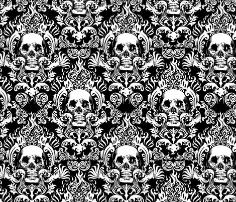 skull-damask-10inch-tall fabric by jimiyo on Spoonflower - custom fabric