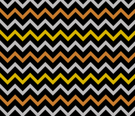 Medal Chevron - Gold, Silver, Bronze fabric by shelleymade on Spoonflower - custom fabric