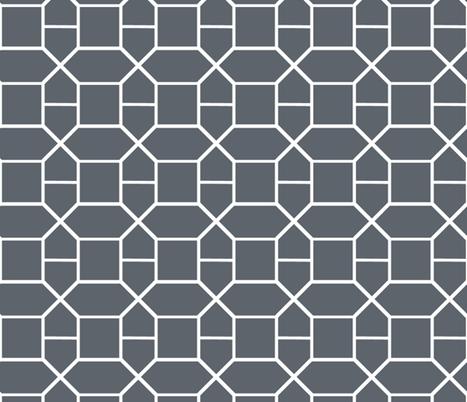 Grey Nautical Chain fabric by fleamarkettrixie on Spoonflower - custom fabric