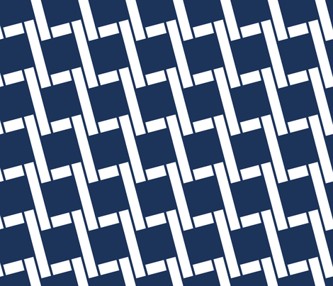 Nautical Rope-Navy fabric by fleamarkettrixie on Spoonflower - custom fabric