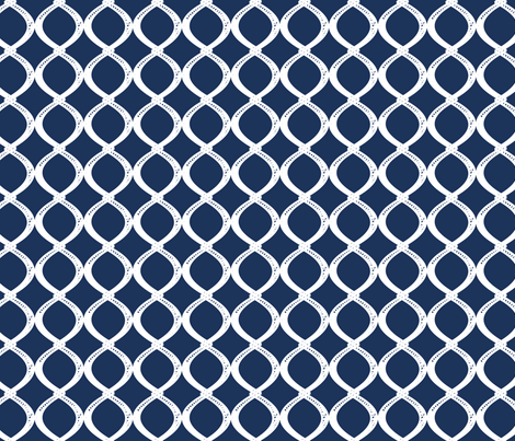 Fish Net-Navy fabric by fleamarkettrixie on Spoonflower - custom fabric