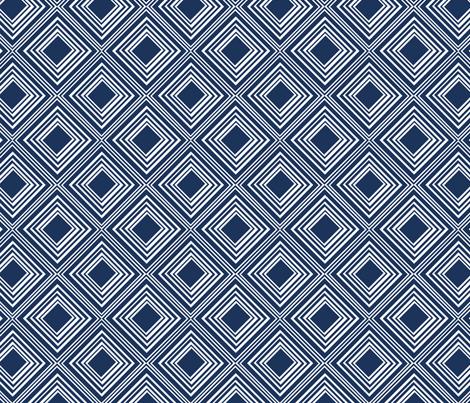 Navy  tin ceiling tile fabric by fleamarkettrixie on Spoonflower - custom fabric