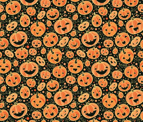 Halloween Pumpkins fabric by oksancia on Spoonflower - custom fabric