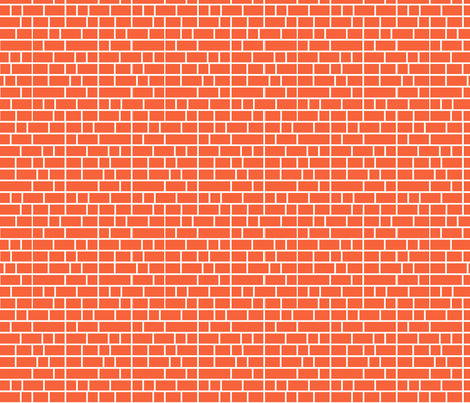 Staxx Shelves (Orange) || geometric bookshelves library book bricks subway tile fabric by pennycandy on Spoonflower - custom fabric