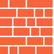 Staxx Shelves (Orange) || geometric bookshelves library book bricks subway tile