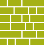 Staxx Shelves (Green) || geometric bookshelves library book bricks subway tile