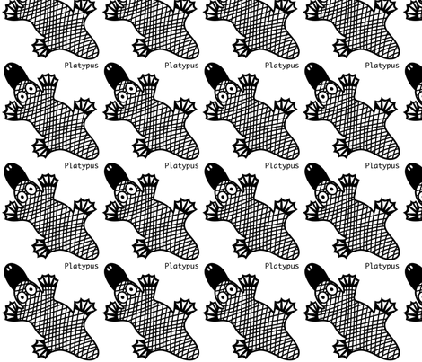 Platypus wall decal fabric by yellowstudio on Spoonflower - custom fabric